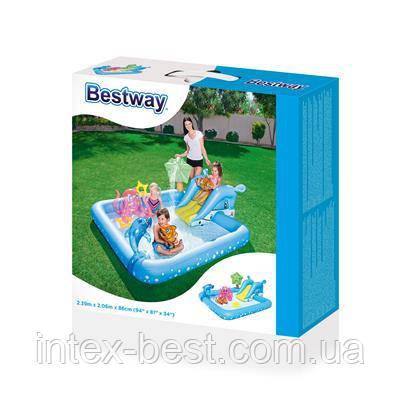 """53052 BW Игровой бассейн """"Аквариум"""" 239х206х86 см, 308 л, с брызгалкой и принадлежностями для игр., фото 2"""