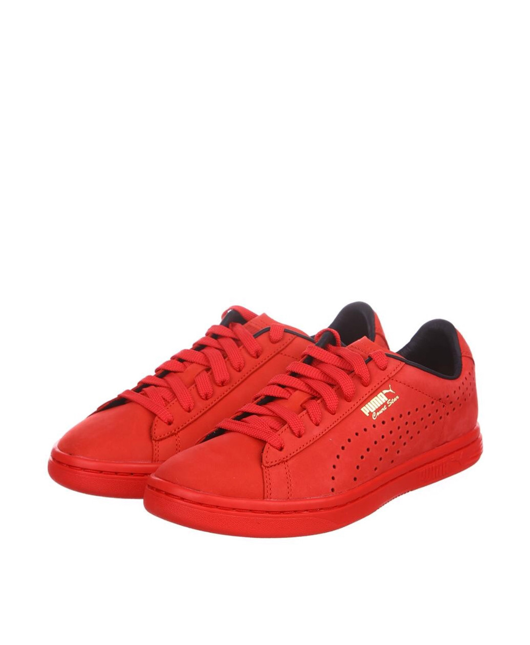 Обувь женская бренда Puma (кожа) красного и синего цвета