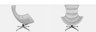 Дизайнерское офисное кресло Verona Чорное и Белое, фото 2