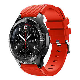 Силіконовий ремінець Primo для годин Samsung Gear S3 Classic SM-R770 / Frontier RM-760 - Red