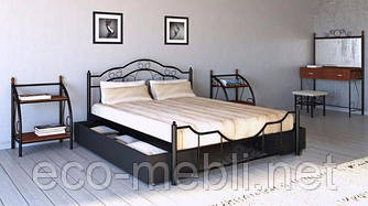 Півтораспальне ліжко Кармен Метал Дизайн