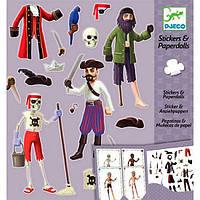 """Художественный набор DJECO с наклейками """"Пираты""""  (DJ09692)"""