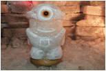 Светильник соляной:  миньон, ниндзя,мяч,обезьяна,черепаха, фото 1