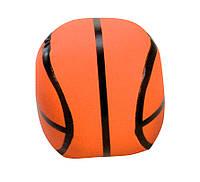 Мяч мягкий спортивный, 10 см, Lena, баскетбольный (62185-2)