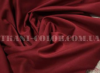 Костюмная ткань коттон мемори бордовый