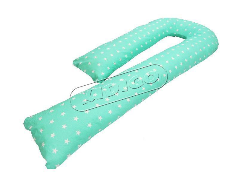 Подушка для беременных KIDIGO J - образная Звездочки (с наволочкой)