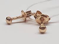 Золотые серьги-пуссеты. Артикул 580074