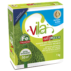 Удобрение для газона АНТИМОХ Яра Вила (Yаra Vila), 1 кг