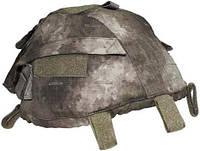 Чехол на каску с карманами регулируемый HDT камуфляж MFH 10501P