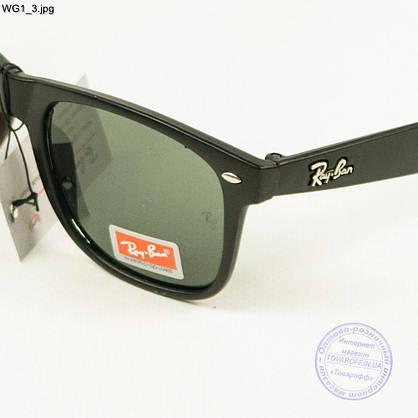 Сонцезахисні окуляри Ray-Ban Wayfarer унісекс зі скляною лінзою - WG1, фото 3