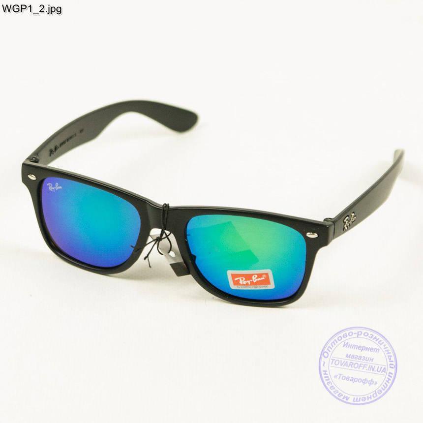 Сонцезахисні окуляри Ray-Ban Wayfarer з кольорової дзеркальної лінзою - WGP1, фото 2