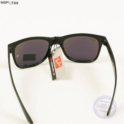 Сонцезахисні окуляри Ray-Ban Wayfarer з кольорової дзеркальної лінзою - WGP1, фото 3