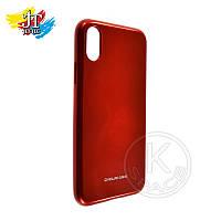 Силиконовый чехол на мобильный телефон (смартфон) iPhone X red Molan Shining
