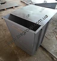 Контейнер для тбо (мусорный бак) 0,75 м3, 2мм толщина листа