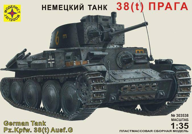 "Танк 38(t) ""Прага"". 1/35 MODELIST 303538, фото 2"