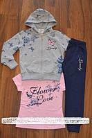 Спортивный трикотажный костюм для девочек, фото 1