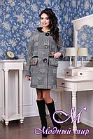 Женское демисезонное пальто с капюшоном (р. 44-54) арт. 1063 Тон 100