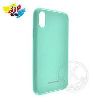 Силиконовый чехол на мобильный телефон (смартфон)  iPhone X biruza Molan Shining