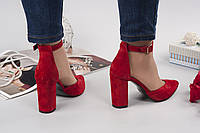 Туфли Veroni кожаные красные