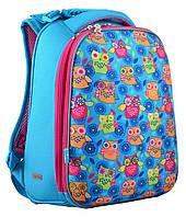 554476 Каркасный школьный рюкзак YES H-12-1 Owl 38*29*15
