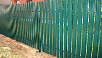 Забор из металлического штакетника , фото 1