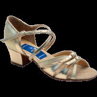 Туфли для танцев для девочек, блок-каблук