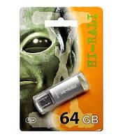 Флешка USB 3.0, Hi-Rali 64GB Rocket series, серебристая