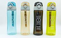 Бутылка для воды спортивная 6424: 4 цвета, объем 500мл