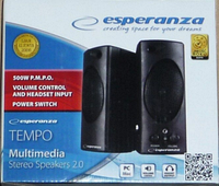 Колонка для Пк Esperanza 2.0 Tempo Black