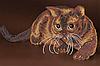 Схема для вышивки бисером Шоколадный кот