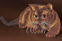 Схема для вышивки бисером Шоколадный кот, фото 1