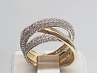 Золотое кольцо с фианитами. Артикул КД2050/2