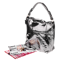 Кожаная женская сумка Realer 2032-1 (Серебро)