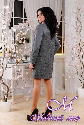 Женское свободное пальто весна-осень (р. 44-54) арт. 1093 Тон 5, фото 2