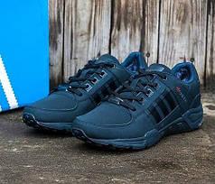 Мужские кроссовки Adidas equipment на меху темно-синие топ реплика