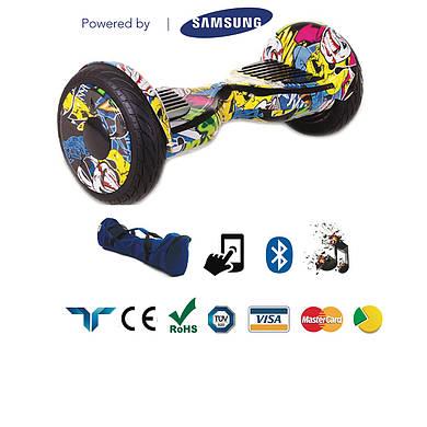 """Гироскутер Smart Balance SUV 10.5"""" Premium графити. С приложением TaoTao. С самобалансировкой.+Подарок"""