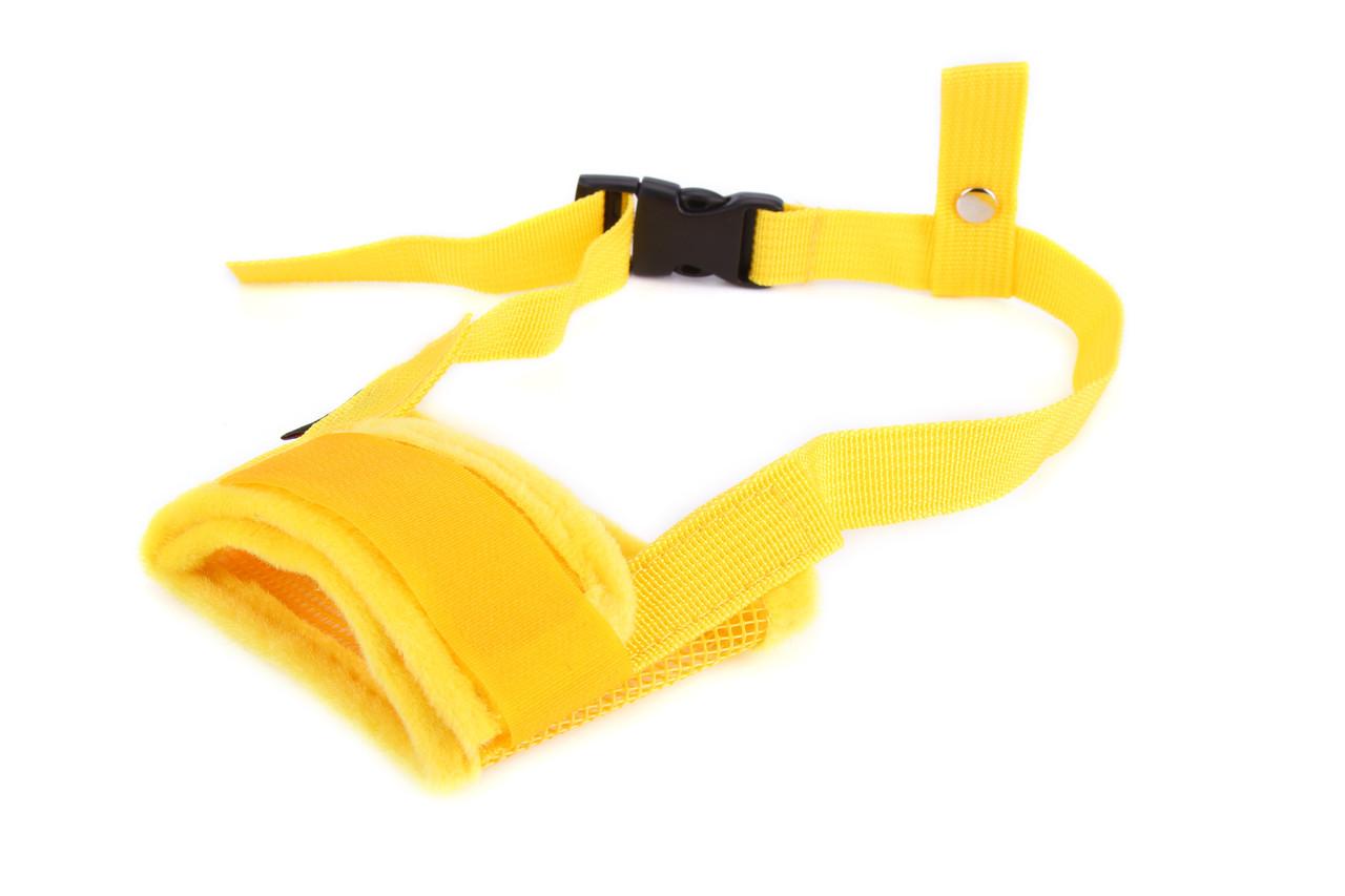 Намордник нейлоновый для собак Do Do Pet желтый