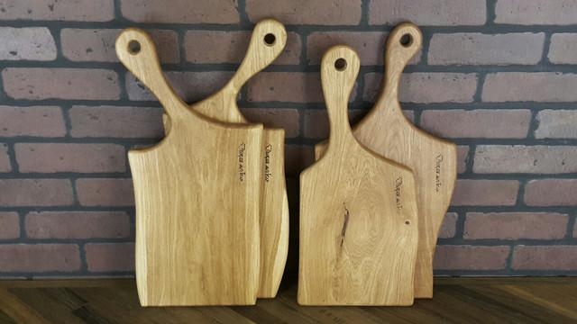 Деревянные кухонные разделочные доски 4 штуки в наборе