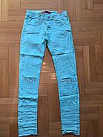 Модные котоновые брюки для девочек 134/ 164 см