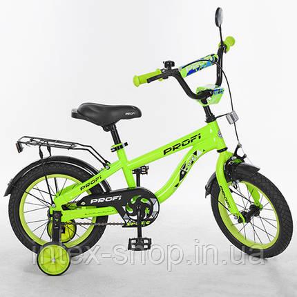 """Детский двухколесный велосипед PROFI Space 14"""" Салатовый (T14153), фото 2"""