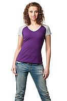 Двухцветная футболка женская