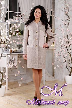 Свободное женское пальто весна-осень (р. 44-54) арт. 1093 Тон 34, фото 2