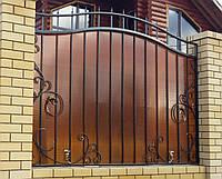 Кованый забор из поликарбонатом, фото 1