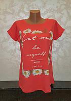 Стильная женская футболка размеры 50,52,54 , фото 1