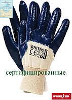 Защитные перчатки, покрытые нитрилом и законченные трикотажной резинкой RNITNS BEG