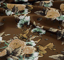 Костюмная ткань креп барби принт