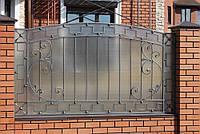 Кованый забор из поликарбонатом