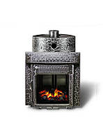 Дровяная печь для бани Ферингер Малютка Экран Казанские мотивы (16 м3)