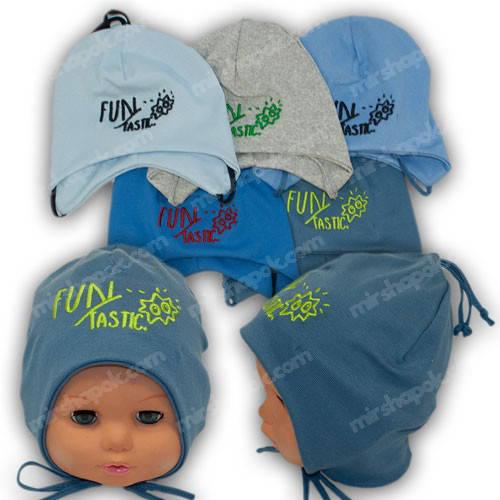 Детские шапки на завязках, р. 44-46