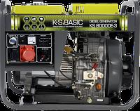 Генератор дизельный KONNER&SOHNEN BASIC KS 8000DE-3 6.5кВт трехфазный Германия, фото 1